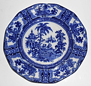 Adams & Co China Kyber Flow Blue Dinner Plate