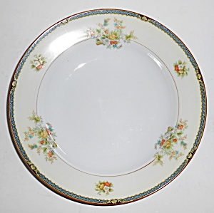 Noritake Porcelain China Yellow Shoulder Floral Soup