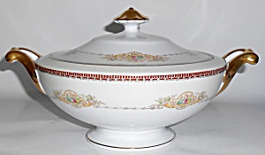 Meito China Porcelain Japan Floral Covered Vegetable