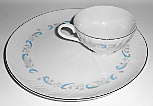 Camelot Fine China Porcelain Gracious Platinum Snack Pl