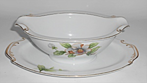 Roselyn Porcelain China White Dogwood Gravy Bowl