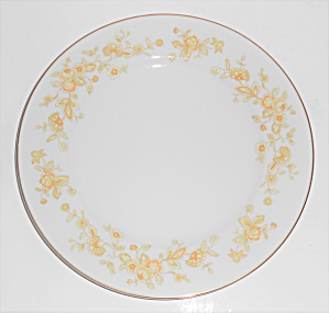 Four Crown Porcelain China Meredith Floral W/gold Salad