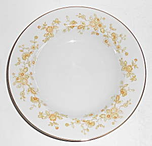 Four Crown Porcelain China Meredith Floral W/gold Soup