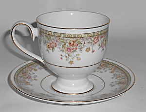 Noritake Porcelain China Ireland Morning Jewel Cup & Sa
