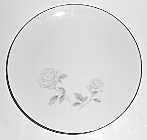 Noritake Porcelain China Rosay #6216 W/platinum Salad