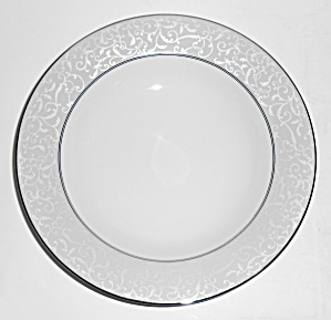 Mikasa Fine China Platinum Parchment Rimmed Soup Bowl
