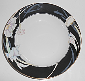 Mikasa Fine China Black Charisma Rimmed Soup Bowl
