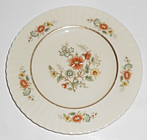 Lenox China Temple Blossom Gold Band Bread Plate