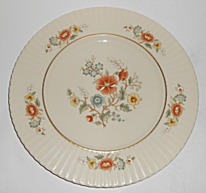Lenox China Temple Blossom Gold Band Dinner Plate