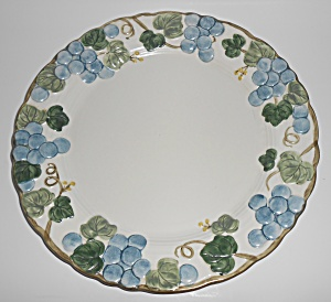 Metlox Pottery Poppy Trail Sculptured Grape Chop Plate