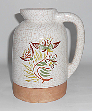 Barbara Willis Pottery Early Provincial Floral Lrg Jug