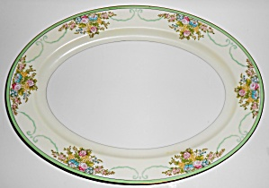 Meito China Porcelain Japan Floral Gold Green Yellow Pl