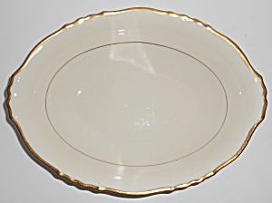Syracuse China Old Ivory Gold Fluted Vegetable Bowl