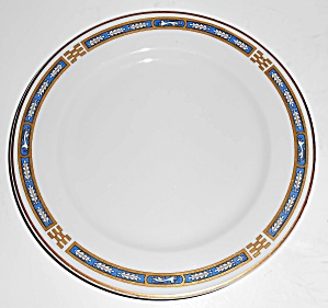Syracuse China Blue Mistic W/gold Bread Plate