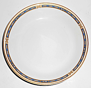 Syracuse China Blue Mistic W/gold Soup Bowl