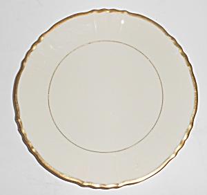 Syracuse China Old Ivory Gold Fluted Dessert Plate