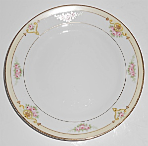 Noritake Nippon Porcelain China Floral/gold Bread Plate