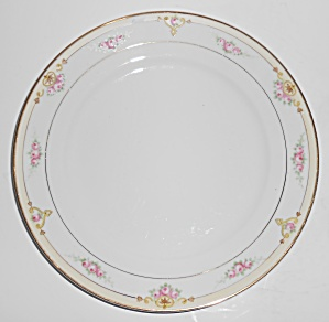 Noritake Nippon Porcelain China Floral/gold Lunch Plate