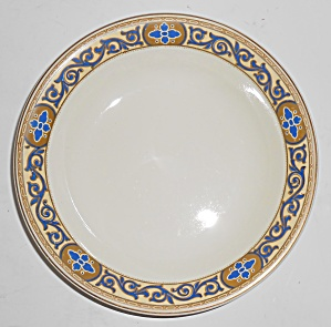 J. G. Meakin China Academy Cobalt W/gold Soup Bowl