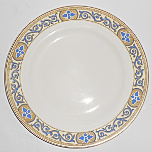J. G. Meakin China Academy Cobalt W/gold Salad Plate