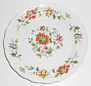 Ridgway Ironstone China Mandalay Floral Bread Plate