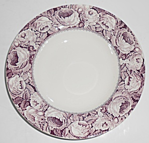 Royal Staffordshire China Purple June Roses Soup Plate