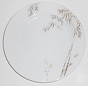 Japan Porcelain China Gold Bamboo Decorated Salad Plate