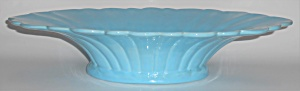 Catalina Island Pottery Large Turquoise Fluted Art Bowl