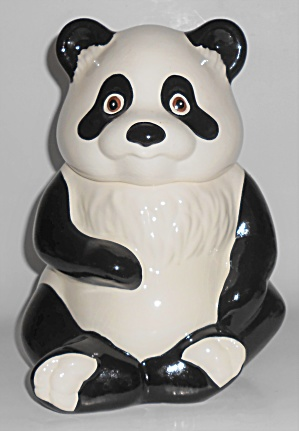 Metlox Pottery Poppy Trail Panda Bear Cookie Jar