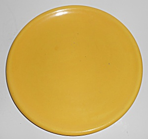 Catalina Island Pottery Chinese Yellow Lunch Plate