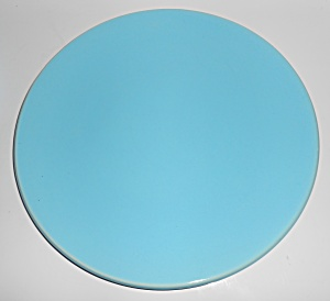 Catalina Island Pottery Turquoise Coupe Dinner Plate