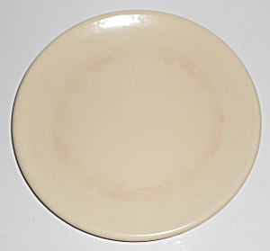 Catalina Island Pottery Ivory Rolled Rim Plate