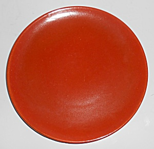 Catalina Island Pottery Toyon Red Coupe Salad Plate