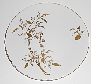 Victorian Porcelain China Nandin W/gold Salad Plate