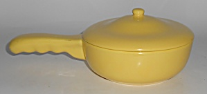 Franciscan Pottery El Patio Gloss Yellow Handled Baker