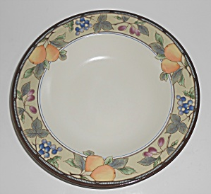 Mikasa Intaglio China Cac29 Garden Harvest Rimmed Soup