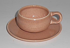 Russel Wright Pottery American Modern Coral Demitasse