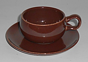 Russel Wright Pottery American Modern Bean Brown Demi