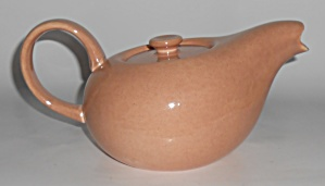 Russel Wright Pottery American Modern Coral Teapot