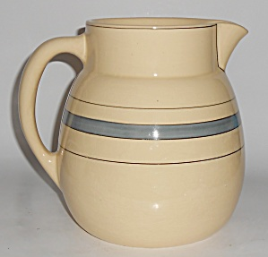 Roseville Art Pottery Utility Ware Banded Pitcher