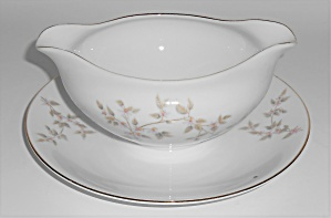 Mitake China Pottery Pink/lavender Yellow Floral Gravy
