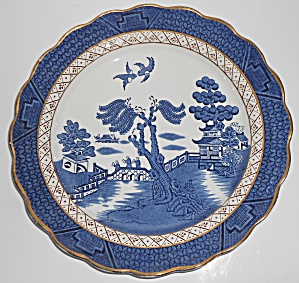 Booths China Real Old Willow Blue W/gold Dinner Plate