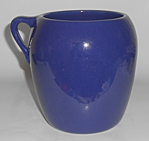 Pacific Pottery Plain Ware Hostess Cobalt Bean Pot