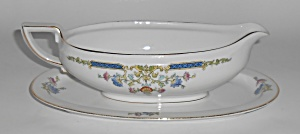 Hutschenreuther China Porcelain Hut6 Floral Swags Gold
