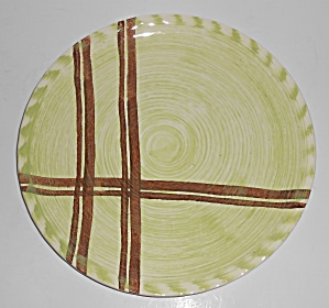 Blue Ridge Southern Pottery Piedmont Plaid Lunch Plate
