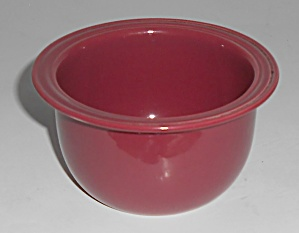 Coors Pottery Rock-mount Red Custard Cup