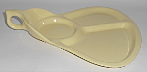 Coors Pottery Mello-tone Yellow Hostess/party Plate