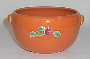 Coors Pottery Rosebud Orange Small Pudding Bowl