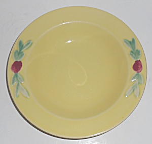 Coors Pottery Rosebud Yellow Rim Soup Bowl Robert Schne