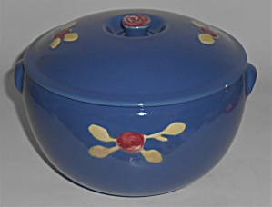 Coors Pottery Rosebud Blue Triple Service Casserole Rob